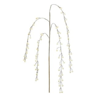 """40"""" Glamour Time Golden Glitter Weeping Pearl Cascades Artificial Christmas Spray"""