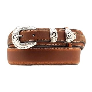 Nocona Western Belt Mens Leather Ranger Star Concho Mocha
