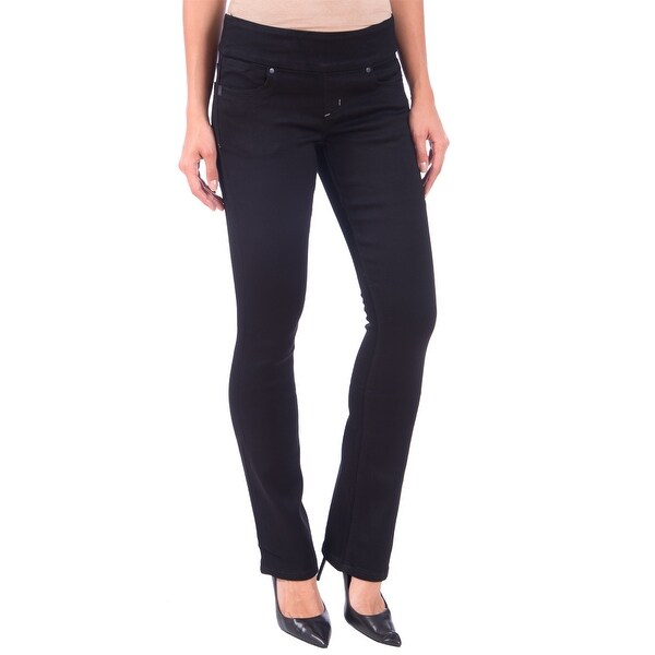 DISCONTINUED Lola Pull On Bootcut Jeans, Leah-BLK