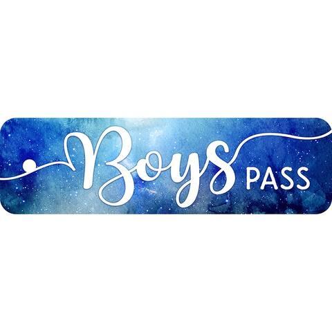 Tnt plastic hall pass galxy script boys 10168