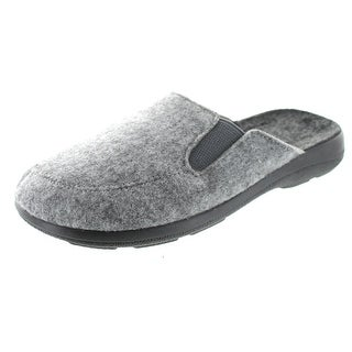 Sc Home Collection Mens Closed Toe Open Back Elastic Gore Slippers