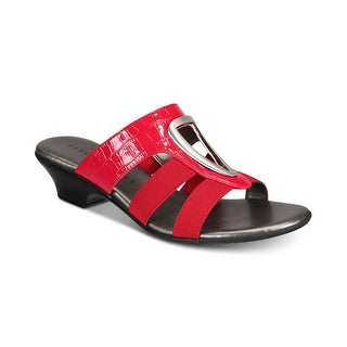 Link to Karen Scott Womens Engle Open Toe Casual Slide Sandals Similar Items in Women's Shoes