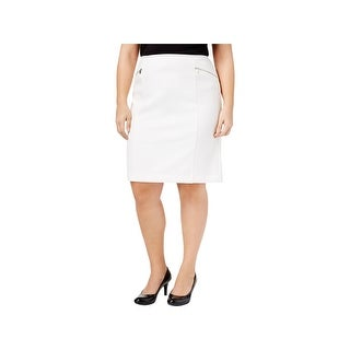 Calvin Klein Womens Pencil Skirt Zip-Pocket Pleated