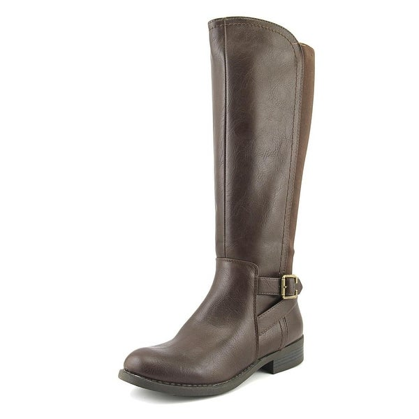 Nine West Leonore Women Round Toe Synthetic Brown Knee High Boot