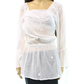 Letarte NEW White Embroidered Women's Size Large L Cover-Up Cotton