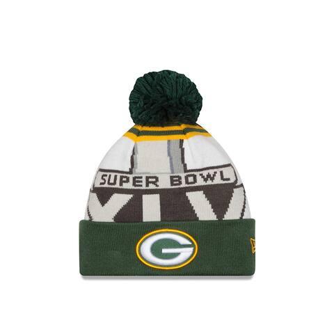 Green Bay Packers New Era NFL Super Bowl XLV Logo Cuffed Knit Hat