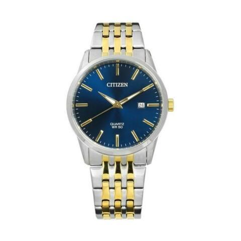 Citizen Men's BI5006-81L 'Dress' Two-Tone Stainless Steel Watch - Blue
