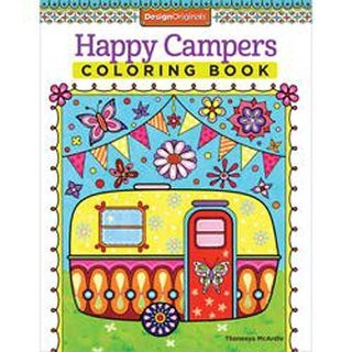 Happy Campers Coloring Book - Design Originals