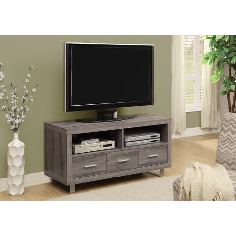 Monarch 3250 Dark Taupe With 3 Drawers 48nch Tv Stand