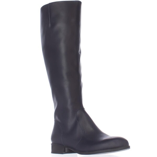 Nine West Nicolah Tall Riding Boots - Navy