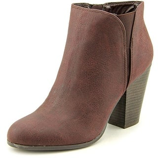 Fergalicious Punch Round Toe Leather Bootie