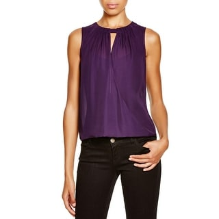 Dylan Gray Womens Blouse Silk Crossover