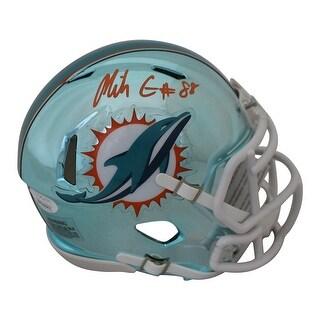 Mike Gesicki AutographedSigned Miami Dolphins Chrome Mini Helmet JSA