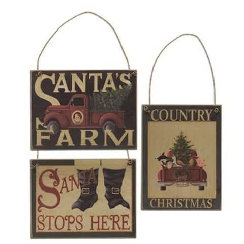 Santa's Farm Ornament 3 Asstd