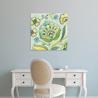 Easy Art Prints Sydney Wright's 'Decorative Golden Bloom III' Premium Canvas Art