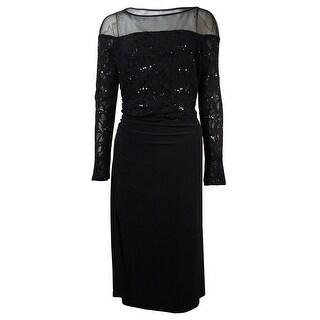 Lauren Ralph Lauren Women's Illusion Lace Jersey Dress
