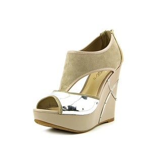Fergie Felicity Open Toe Canvas Wedge Heel