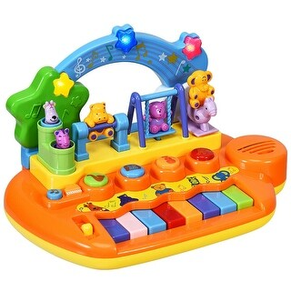 Link to Kids 8 Keys Rainbow Piano Keyboard with Animal Playground LED Light Similar Items in Musical Instruments