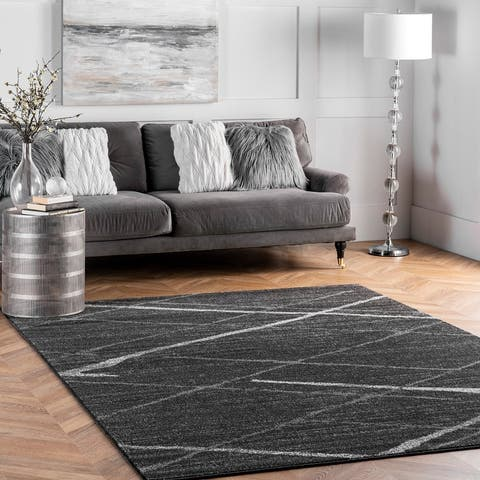 nuLOOM Trellis Stripes Grey Rug