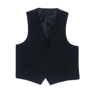 Sean John Mens Shadow Stripe Lined Suit Vest - 42R