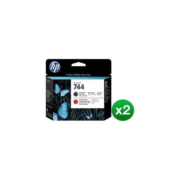 HP 744 Matte Black & Chromatic Red DesignJet Printhead (F9J88A)(2-Pack)