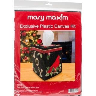 "Cardinal Tissue Box Plastic Canvas Kit-5"" 7 Count"