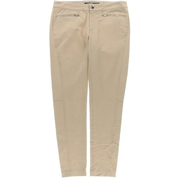Lauren Ralph Lauren Womens Ankle Pants Twill Zip Pockets
