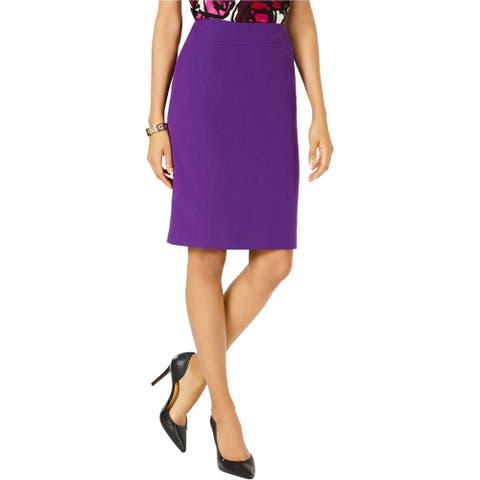 Kasper Womens Solid Business Pencil Skirt, purple, 4P
