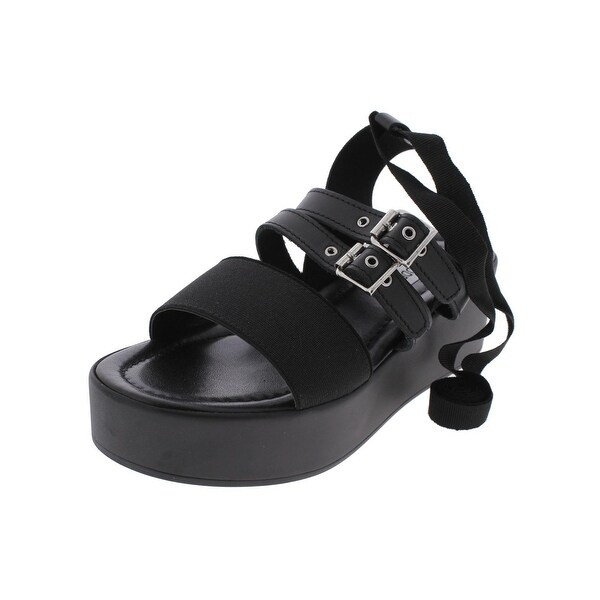Steve Madden Womens Mayzie Platform Sandals Open Toe Buckled Strap