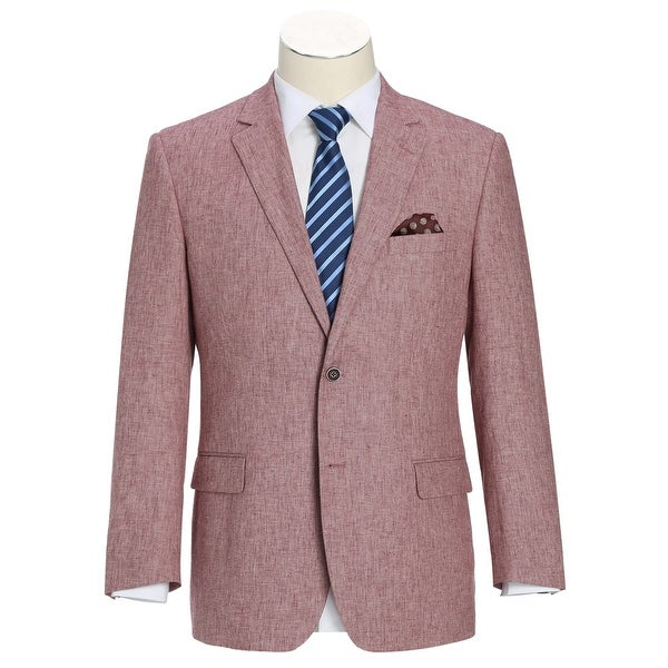 Men's Classic Fit Blazer Linen Cotton Sport Coat. Opens flyout.