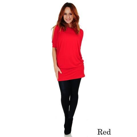 Simply Ravishing Dolman Half Sleeve Cold Shoulder Dress/Top (Size: S-5X)