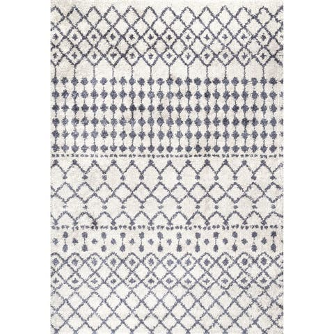 The Curated Nomad Stockton Moroccan Trellis Shag Rug