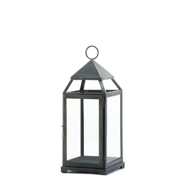 Vintage Rustic Silver Contemporary Lantern