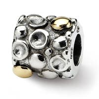 Sterling Silver & 14k Reflections Dots Bali Bead (4mm Diameter Hole)