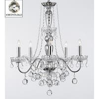 Royal Collection 5 Lights Chrome & Crystal Chandelier