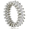 4.50 cttw. 14K White Gold Marquise Diamond Eternity Ring - Thumbnail 2