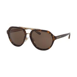 Link to Ralph Lauren RL8174 500373 57 Dark Havana Woman Irregular Sunglasses - Tortoise Similar Items in Women's Sunglasses