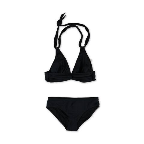 Anne Cole Womens Halter Twist Brief 2 Piece Bikini