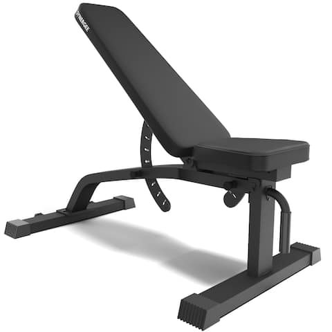 Synergee Adjustable Incline Decline Workout Bench  Weight Bench for Dumbbell & Barbell Press Exercises & Workouts