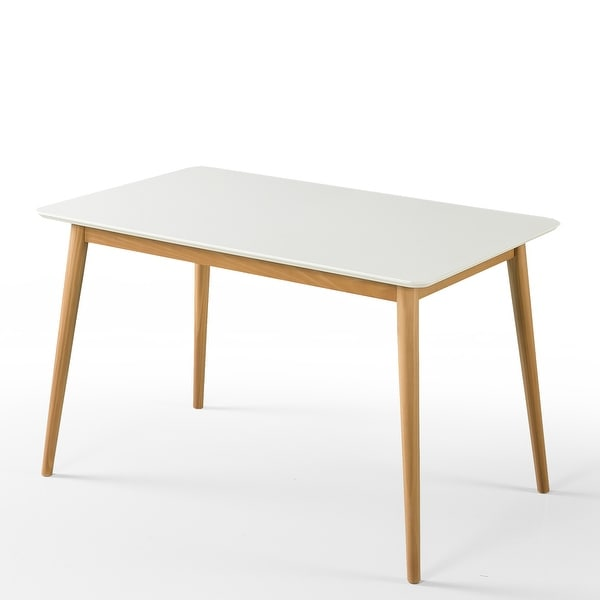 """Priage by ZINUS 47"""" White Wood Dining Table. Opens flyout."""