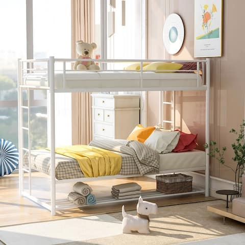 Kid's Twin over Twin Bunk Bed with Storage