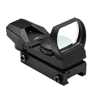 Red & Green Four Reticle Reflex Optic - Black