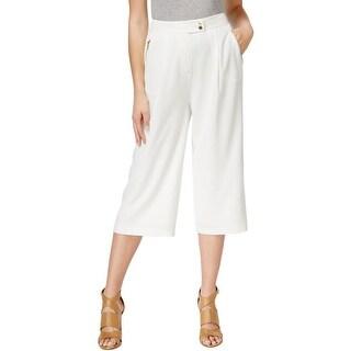 Calvin Klein Womens Capri Pants High Waist Wide Leg