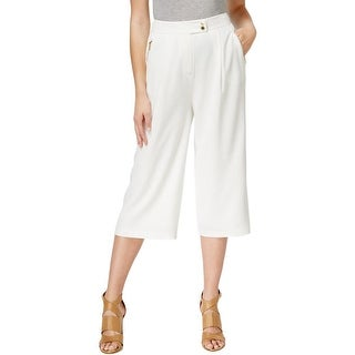 Calvin Klein Womens Capri Pants High Waist Wide Leg