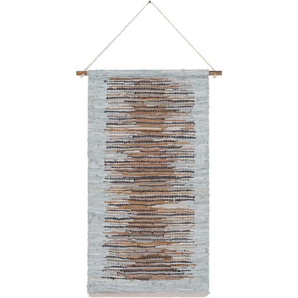 """44"""" Gray and Beige Rectangular Wall Hanging - N/A"""