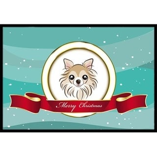 Carolines Treasures BB1561JMAT Chihuahua Merry Christmas Indoor & Outdoor Mat 24 x 36 in.