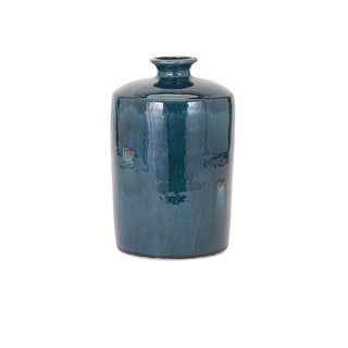 IMAX Home 13309  Arlo Medium Ceramic Vase - Blue
