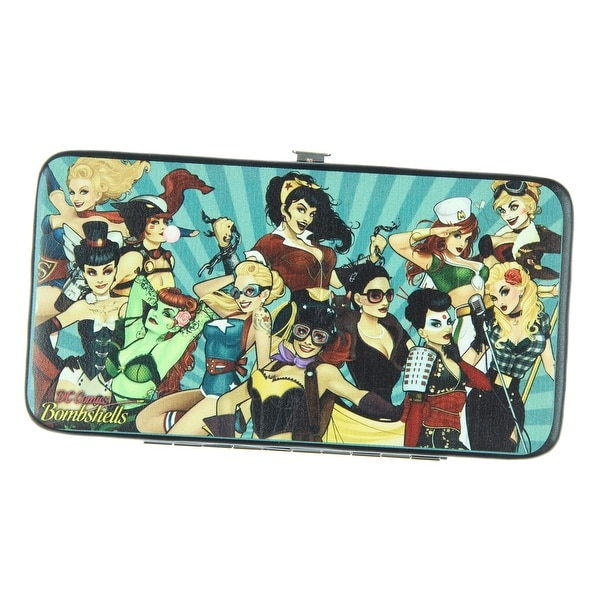 DC Comics Bombshells Group Pose Hinged Wallet - One Size Fits most