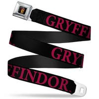 Gryffindor Crest Full Color Harry Potter Gryffindor Black Red Webbing Seatbelt Belt