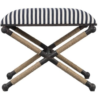 Link to Uttermost 23228 Braddock Ottoman Designed by Grace Feyock - Navy Similar Items in Living Room Furniture